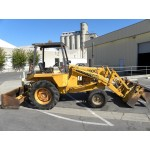 Case 580C Tractor with Clamshell Front-End Loader, PIN 8973597